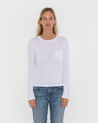 Alexander Wang Cropped Long Sleeve w/Chest Pocket
