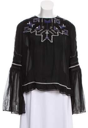 Jonathan Simkhai Silk Embroidered Top w/ Tags