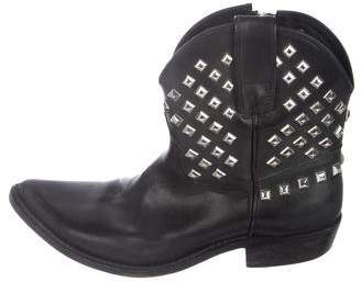 Golden Goose Studded Pointed-Toe Ankle Boots