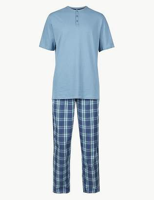 48aee64a64 Marks and Spencer Pure Cotton Checked Pyjama Set