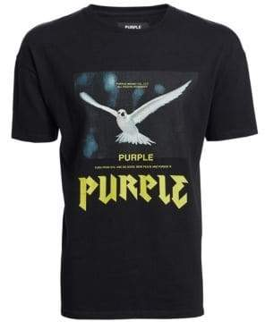Purple Brand Graphic Print Tee