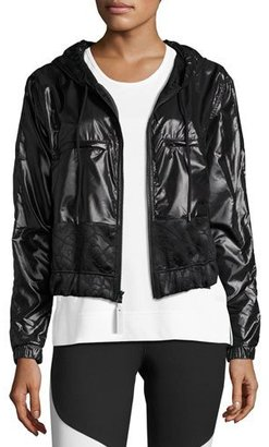 adidas by Stella McCartney Climastorm® Embossed Run Jacket, Black $215 thestylecure.com
