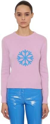 Alberta Ferretti Snow Wool & Cashmere Knit Sweater