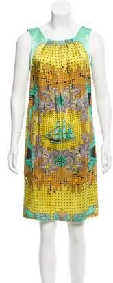 Versace Silk Nautical Print Dress w/ Tags
