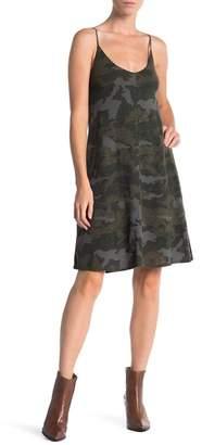 ATM Anthony Thomas Melillo V-Neck Camo Slip Dress