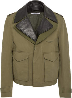 6f9560fa13cb5 Givenchy Stamped Cotton And Linen Canvas Military Jacket