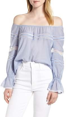 Hinge Lace Detail Off the Shoulder Blouse