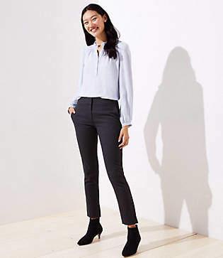 LOFT Petite Velvet Dot Skinny Ankle Pants in Marisa Fit