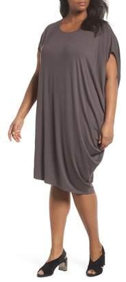 Eileen Fisher Asymmetrical Drape Jersey Dress