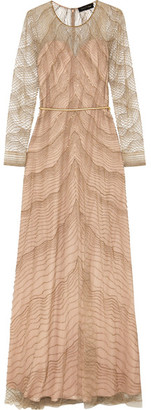Jenny Packham - Embellished Tulle Gown - Gold $4,725 thestylecure.com