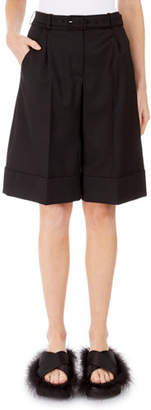 Simone Rocha Full-Leg Pleated Shorts