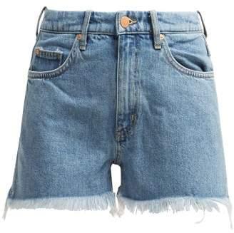MiH Jeans Halsy Frayed Denim Shorts - Womens - Denim