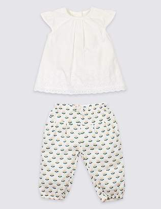 Marks and Spencer 2 Piece Woven Top & Trousers Outfit