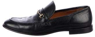 Celine Leather Round-Toe Loafers