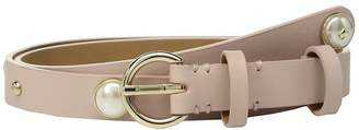 Kate Spade 19mm Leather Belt w/ Pearl Studs