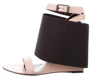 Balenciaga Leather Ankle Strap Wedges w/ Tags