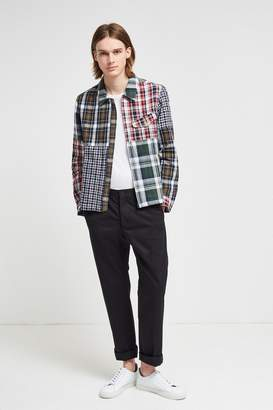 Fcus Laundered Oxford Check Patchwork Jacket