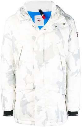Rossignol camouflage print hooded coat