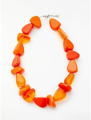Jackie Brazil Flintstone Necklace, Orange