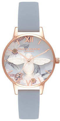 Olivia Burton Bejewelled FLorals OB16BF07 Bee Leather Watch