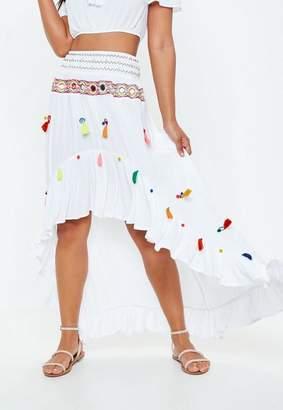 Missguided Multi Tassel Mirror Skirt