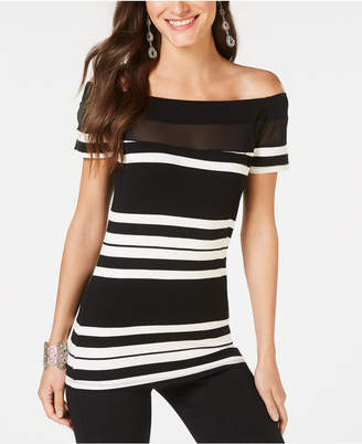 INC International Concepts I.n.c. Illusion-Yoke Off-The-Shoulder Top, Created for Macy's