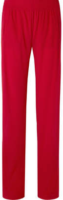 Norma Kamali Striped Jersey Track Pants - Red