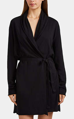Skin Women's Pima Cotton Wrap Robe - Black