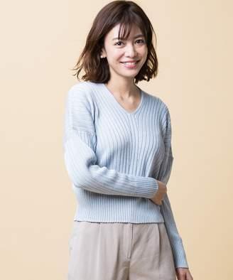 ICB (アイシービー) - ICB 【店頭売れ筋】Siltex Cotton Vネック ニット(C)FDB