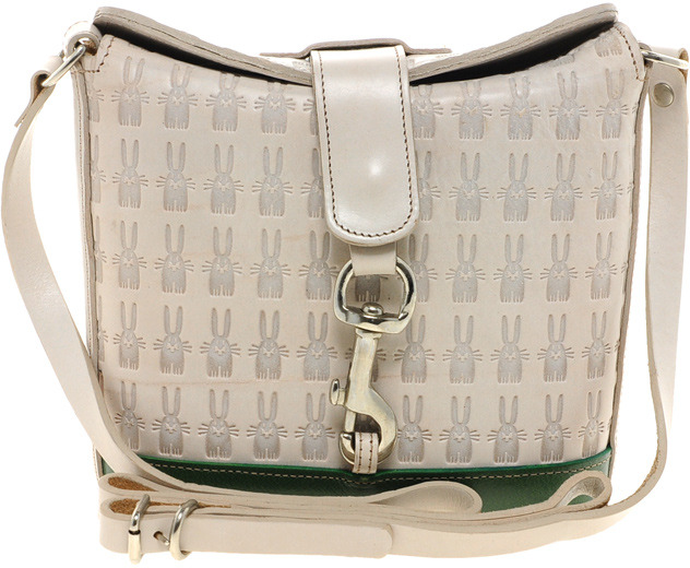 Peter Jensen Small Leather Embossed Angela Cross Body Bag