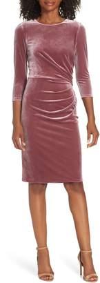 Eliza J Velvet Sheath Dress
