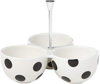 Kate Spade Deco Dot Divided Serving Bowls
