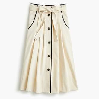 J.Crew Pleated Cone Denim® midi skirt