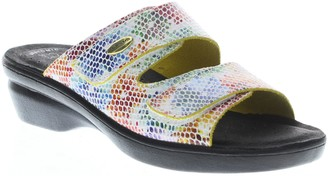 Spring Step Flexus by Leather Slide Sandals - Kina