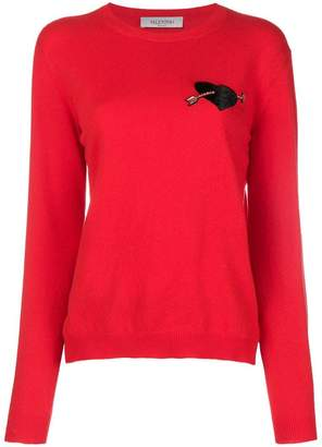 Valentino embellished cupid sweater