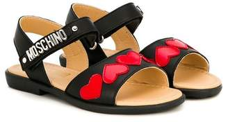 Moschino Kids logo strap sandals