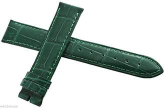 Locman Women's 16mm Green Alligator Leather Watch Band Strap