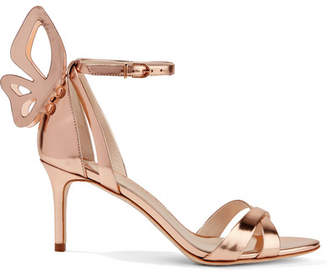 Sophia Webster Madame Chiara Metallic Leather Sandals - Rose gold