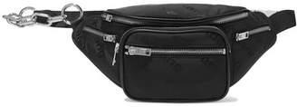 Alexander Wang Attica Leather-trimmed Shell-jacquard Belt Bag