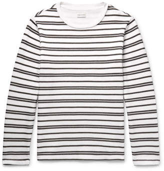 Club Monaco Double-Faced Striped Cotton-Jersey T-Shirt