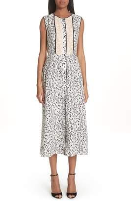 Yigal Azrouel Wrap Detail Pleated Dress