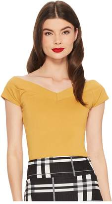 Unique Vintage Cap Sleeve Deena Top Women's Clothing