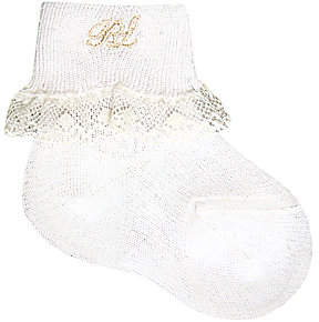 Ralph Lauren Baby's Lace-Trimmed Dress Socks