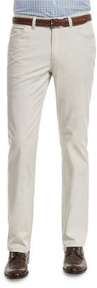 Brioni Five-Pocket Stretch Pants, Sand