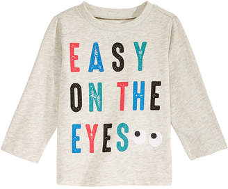 First Impressions Eyes-Print T-Shirt, Baby Boys, Created for Macy's