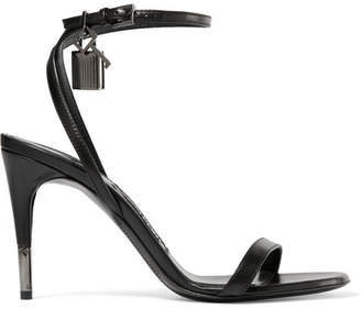 TOM FORD - Leather Sandals - Black $890 thestylecure.com