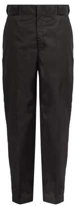 Prada Straight Leg Nylon Trousers - Mens - Black
