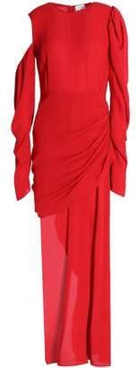 Magda Butrym Draped Crepe Midi Dress