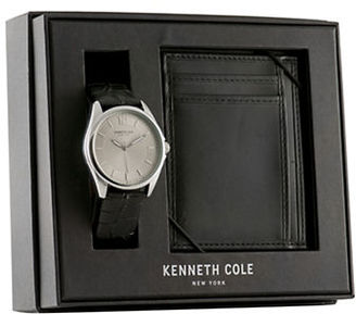 Kenneth Cole Leather and Stainless Steel Watch and Wallet Gift Set $62.48 thestylecure.com