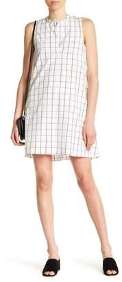 Madewell Sleeveless Grid Print Shirt Dress